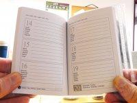 Otwarty kalendarz książkowy