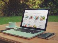 Strona internetowa na laptopie